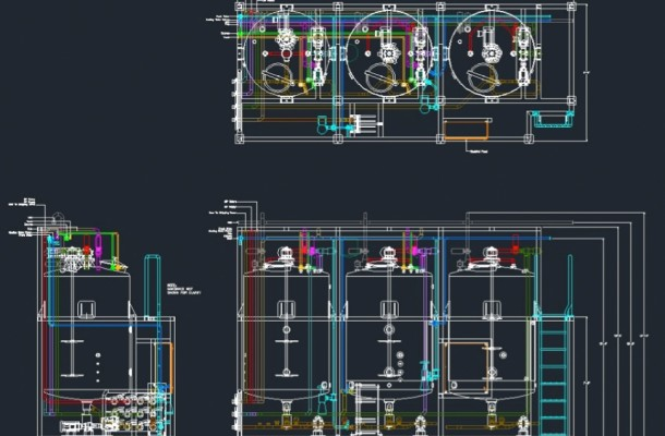 AutoCAD Process and Layout Drawings